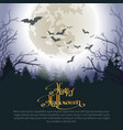 halloween woods poster vector image vector image