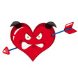 heart monster charater on white background vector image
