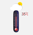 Hot thermometer vector image