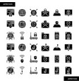 internet security solid icons set vector image vector image
