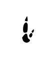 kangaroo footprint vector image vector image