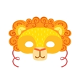 Lion Animal Head Mask Kids Carnival Disguise vector image vector image