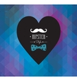 Love Hipster style postcard design vector image