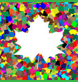 maple leaf sign white icon on colorful vector image