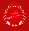 merry christmas text in german design card vector image vector image