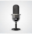 microphone on white background vector image vector image