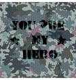 Military seamless background with text vector image vector image