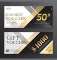 modern elegance gift card or gift voucher vector image vector image
