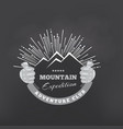 mountains or peak logo emblem outdoor vector image vector image