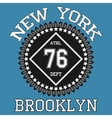 New york Brooklyn typography t-shirt vector image