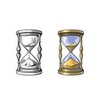 old gold hourglass time concept ancient vector image