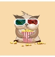 Owl watching a movie vector image