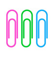 Paperclip icons vector image vector image