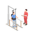 physiotherapeutic procedure isometric composition vector image vector image