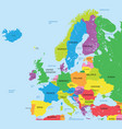 political map of europe high detail vector image