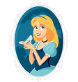 Princess Cinderella Holding Magic Shoe Cart vector image vector image