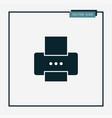 printer icon simple vector image vector image