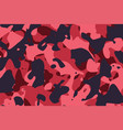 red shade military camouflage pattern background vector image
