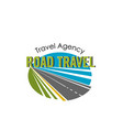 road travel agency icon vector image vector image