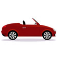 roadster car body type vector image vector image