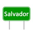 Salvador road sign vector image