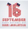 september 16 malaysia national day congratulatory vector image vector image