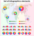 set different elements infographic vector image