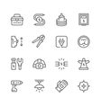 Set line icons of electricity vector image