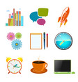 set of business icons team work vector image vector image