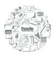 set of doodles elements vector image