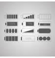 Set of flat simple web icons vector image vector image