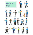 set police officers doing their job vector image