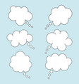 set speech bubbles in flat style isolated vector image vector image