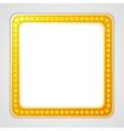 Shining blank square retro light banner vector image