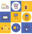 shopping icons delivery vector image vector image