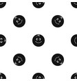 smiling fruit pattern seamless black vector image vector image