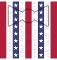 stylized suit with red white and blue stripes vector image