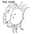 the crab vintage vector image vector image