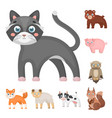 toy animals cartoon icons in set collection for vector image vector image