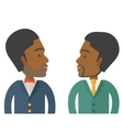 Two businessmen smiling vector image