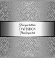 vintage baroque wedding invitation template vector image vector image