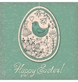 Vintage card with Easter egg vector image vector image