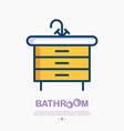 washbasin cupboard with faucet and drawers vector image
