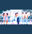 wedding ceremony beautiful terrace with sea view vector image