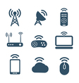 Wireless equipment icons collection vector image vector image