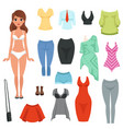 women s clothing items set formal and casual vector image vector image