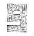 wooden number 9 engraving vector image