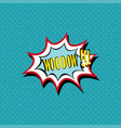 wow comic book bubble text pop art retro style vector image