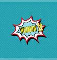 wow comic book bubble text pop art retro style vector image vector image