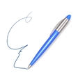 Write Plastic Blue Pen Sign vector image